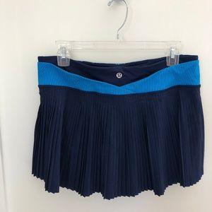 lululemon pleated run skirt